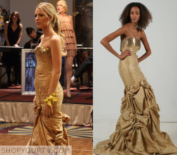 Gossip Girl: Season 1 Episode 10 Serena\'s Gold Gown – Shop Your TV