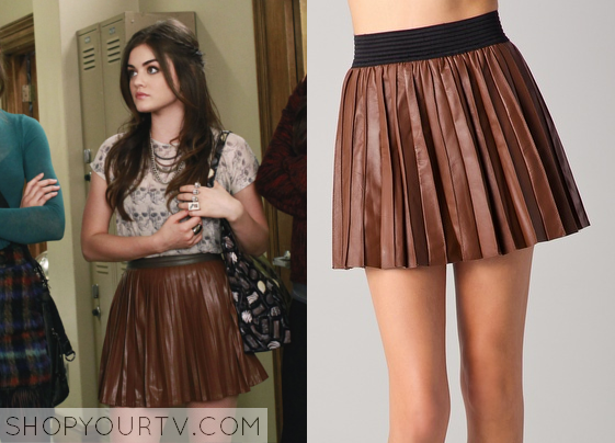 Pretty Little Liars: Season 2 Episode 23 Aria's Pleated Leather ...