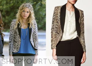 Pretty Little Liars: Season 2 Episode 24 Hanna's Snakeskin-Print Blazer