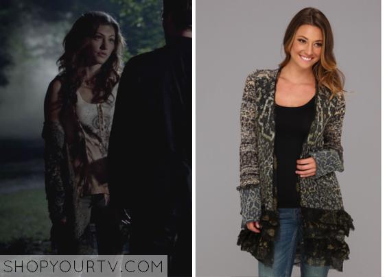 The Originals: Season 1 Episode 4 Hayley's Decorated Ruffle Cardigan