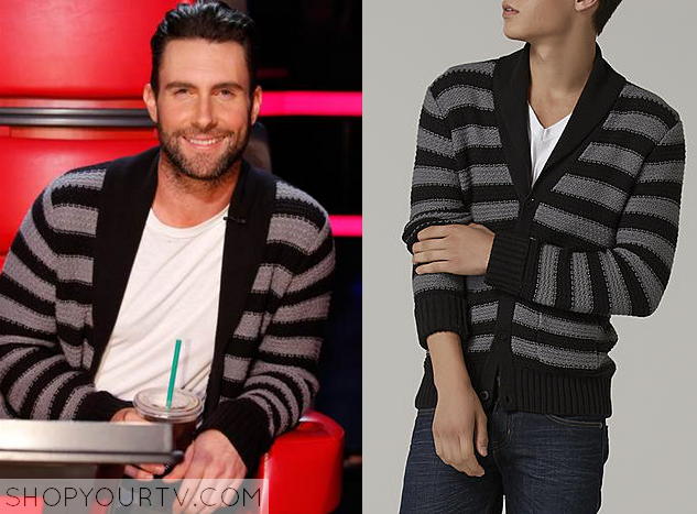 The Voice Season 5 Adam Levines Striped Sweater Shop Your Tv