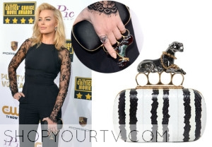 2014 Critics' Choice Movie Awards: Margot Robbie's Panther Clutch
