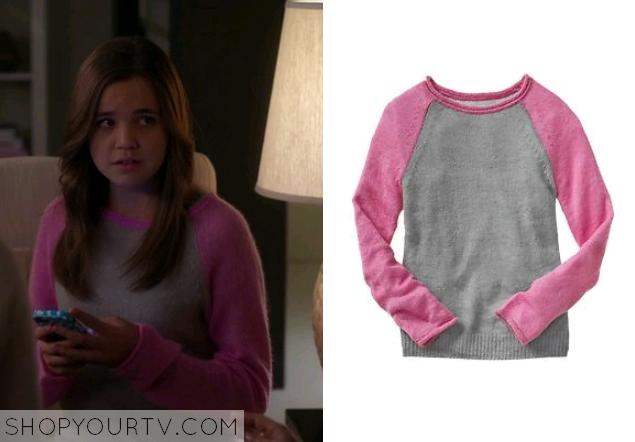 hillarypinkbaseballsweater