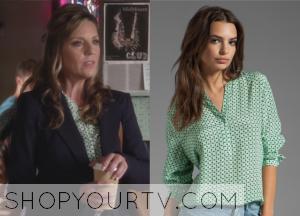 Pretty Little Liars: Season 4 Episode 15 Jessica's Printed Blouse