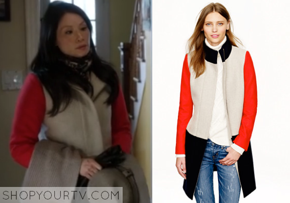 a17cae5d50e3 It is the J.Crew Colorblock Funnelneck Coat. Buy it HERE for  320.00