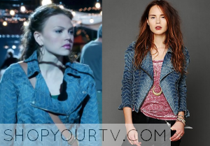 Starcrossed: Season 1 Episode 1 Emery's Printed Denim Jacket