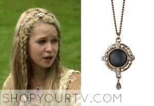 Reign: Season 1 Episode 3 Aylee's Pyrite Medallion Necklace