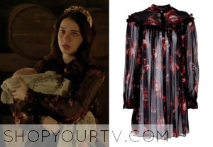 Reign: Season 1 Episode 11 Mary's Floral Print Blouse