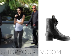 KUWTK: Season 9 Episode 6 Kendall's Quited Lace Up Combat Boots