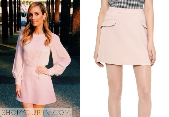 E! News: Catt Sadler's Pink Skirt |