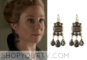 Reign: Season 1 Episodes 7, 9, and 11 Queen Catherine's Pyrite Earrings