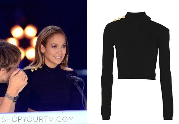 Shop Your TV: American Idol: Season 13 Jennifer Lopez's Black Crop Top
