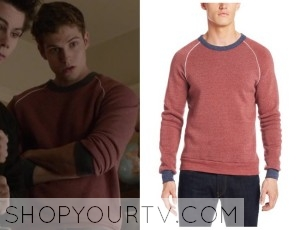 Teen Wolf: Season 3 episode 23 Isaac's red contrast pullover