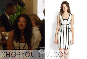 Star-Crossed: Season 1 Episode 6 Eva's White and Black Contrast Dress