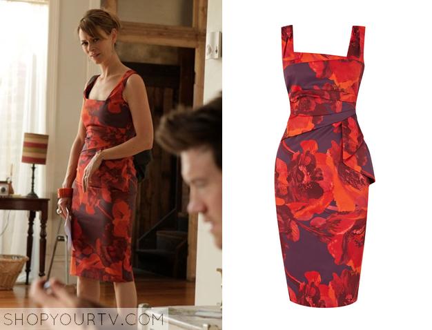 Offspring: Season 4 Episode 8 Billie&39s Red Printed Dress