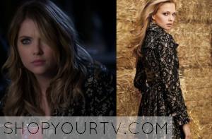 Pretty Little Liars: Season 4 Episode 22 Hanna's Lace Overlay Coat