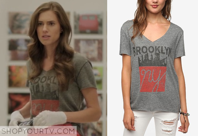 Girls: Season 3 Episode 11 Marnie's Grey Brooklyn Tee | Shop