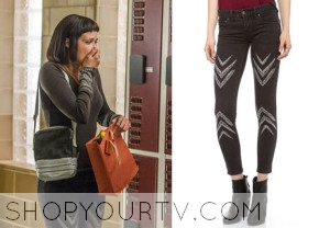 Star-Crossed: Season 1 Episode 4 Sophia's Chevron Print Skinny Jeans