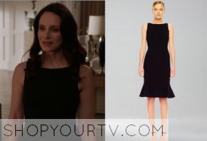 Revenge: Season 3 Episode 16 Victoria's Black Flare Dress