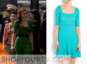 Star-Crossed: Season 1 Episode 8 Emery's Green Cable Knit Sweater Dress