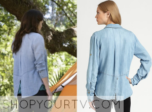 Star Crossed: Season 1 Episode 7 Emery's Split Back Denim Shirt