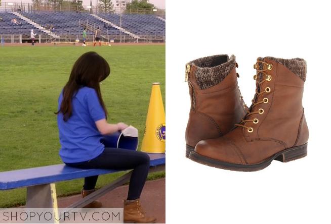 Awkward Season 4 Episode 2 Jennas Brown Knit Top Boots Shop Your Tv