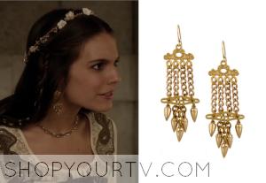 Reign: Season 1 Episode 17 Kenna's Dangled Earrings