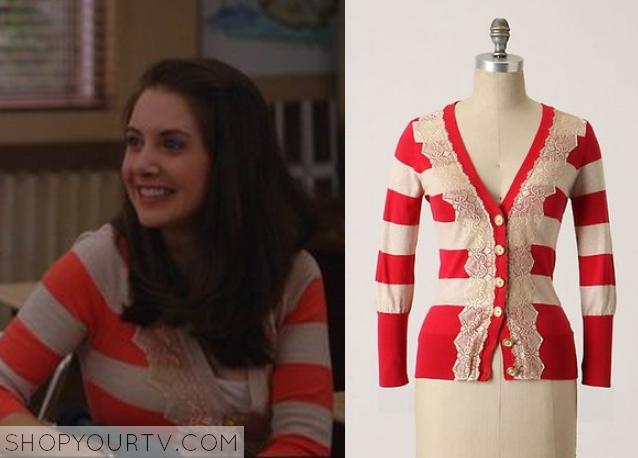 Community: Season 1 Episode 16 Annie's Red Striped Cardigan