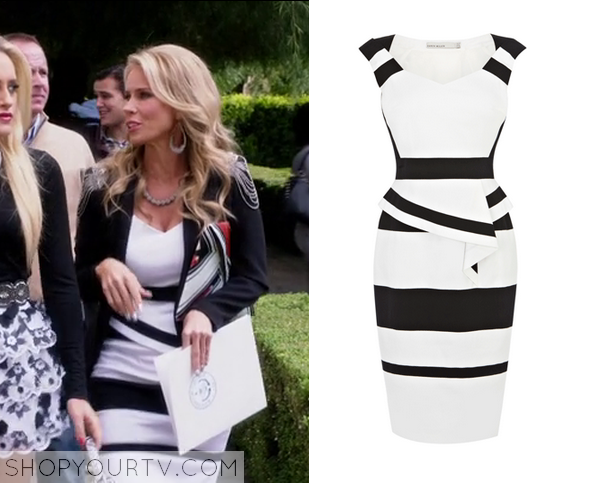 dallas black and white dress