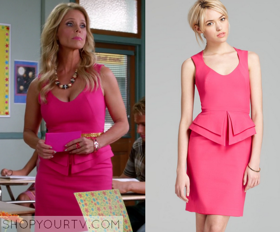 dallas pink peplum dress