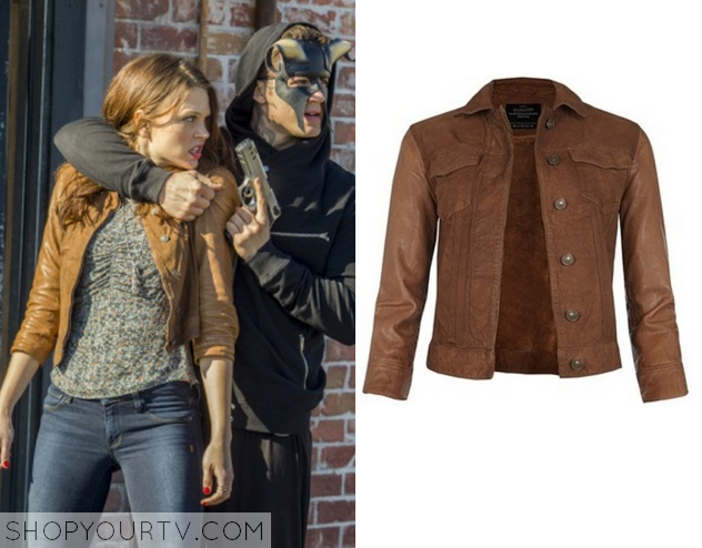 emerybrownleather jacket