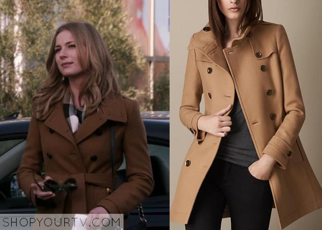 0061cf882 Revenge: Season 3 Episode 21 Emily's Brown Coat | Shop Your TV