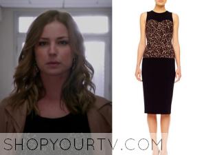 Revenge: Season 3 Episode 22 Emily's Leopard Print Dress
