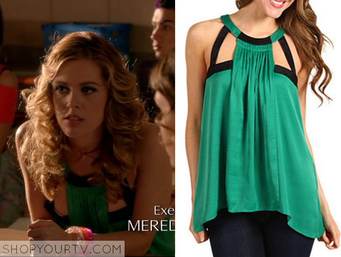 green cut out top