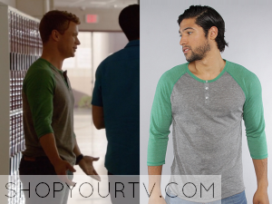 Starcrossed: Season 1 Episode 1 Eric's Green Henley Top