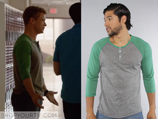 green henley top