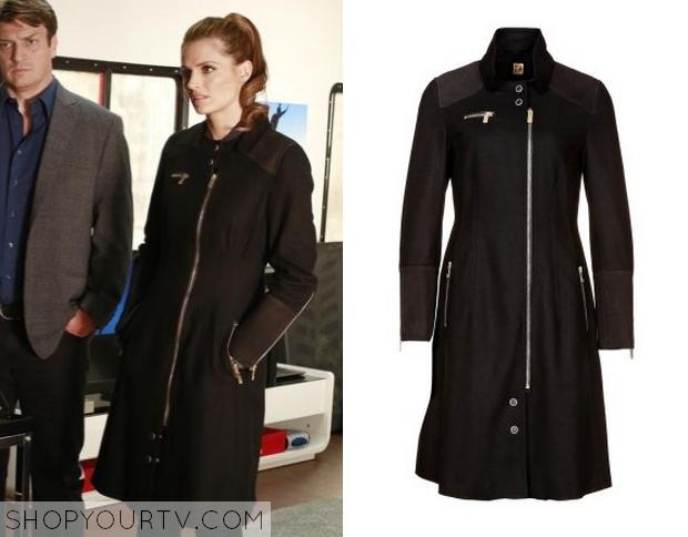 Shop Your TV: Castle: Season 6 Episode 21 Kate's Black Zip Coat