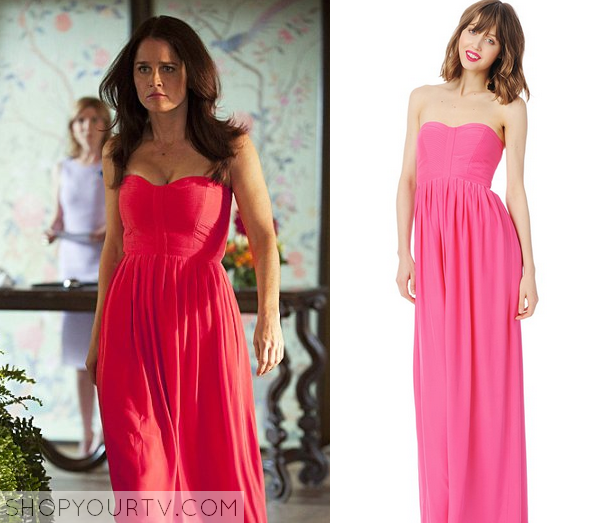The Mentalist: Lisbon Pink Strapless Dress