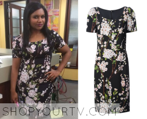 The Mindy Project: Season 2 Episode 22 Mindy's Floral Print Dress