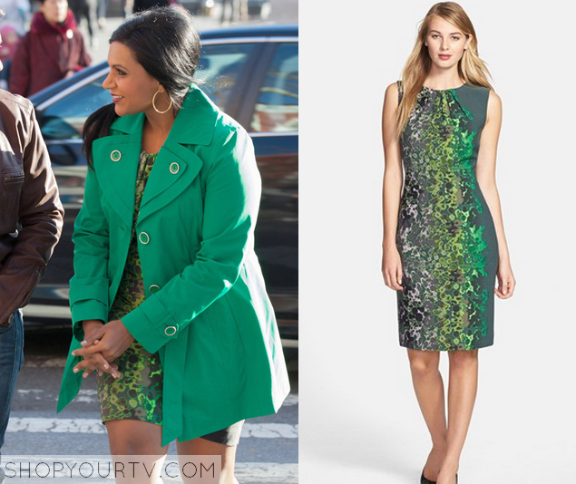 mindy green print dress