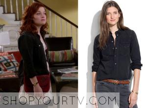 Suburgatory: Season 3 Episode 11 Tessa's Dark Wash Denim Shirt