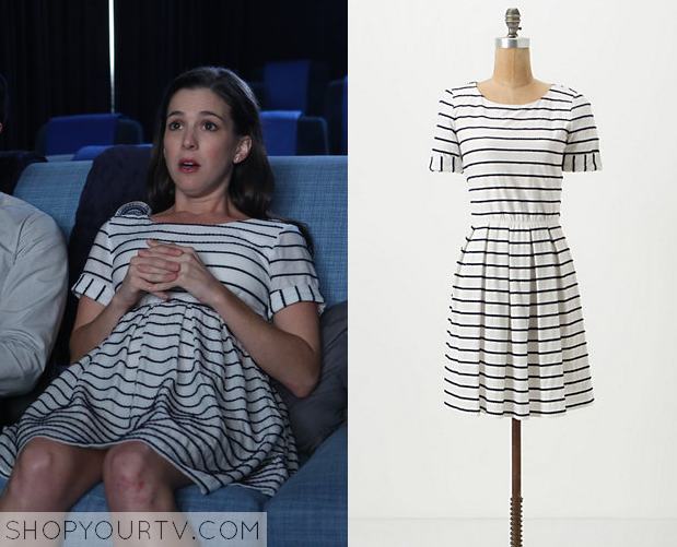 Becca white striped dress