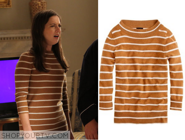Shop Your TV: 1600 Penn: Season 1 Episode 2 Becca's Brown Striped ...