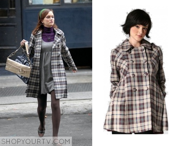 blair plaid coat