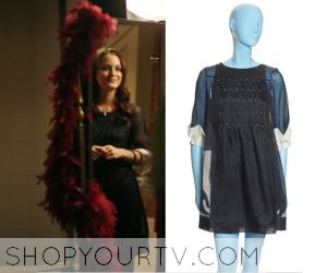 Gossip Girl: Season 1 Episode 5 Blair's Navy Stud Dress