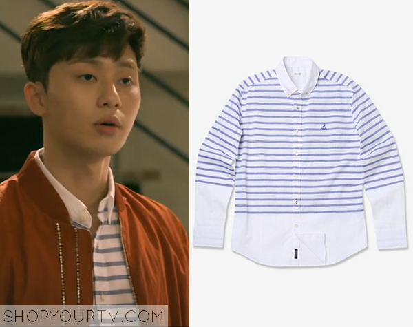 Yoon Dong Ha's Blue Striped Shirt