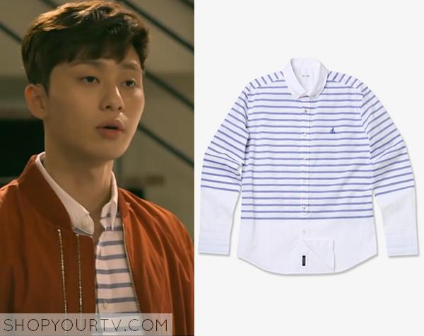 Yoon Dong Ha's Blue Striped Shirt
