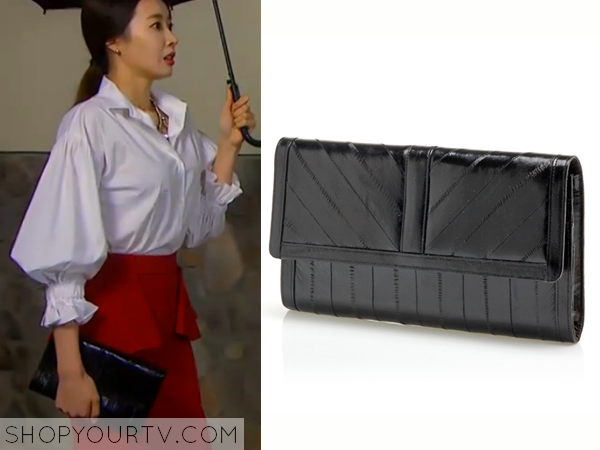 Song Chae Kyung's Black Clutch Bag