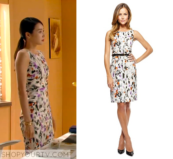 Song Chae Kyung's Floral Sheath Dress