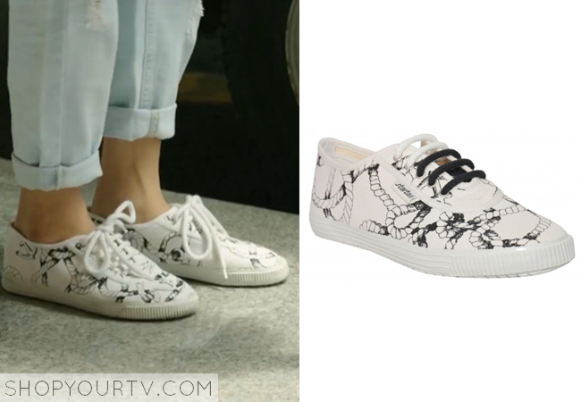 Lee Chang Yi's Rope Print Canvas Sneakers